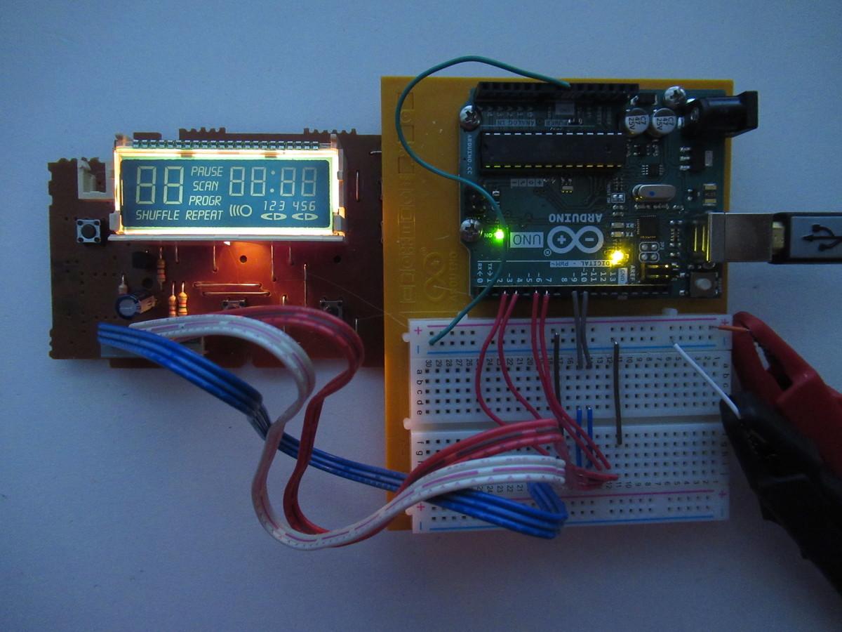 LCD, all segments driven